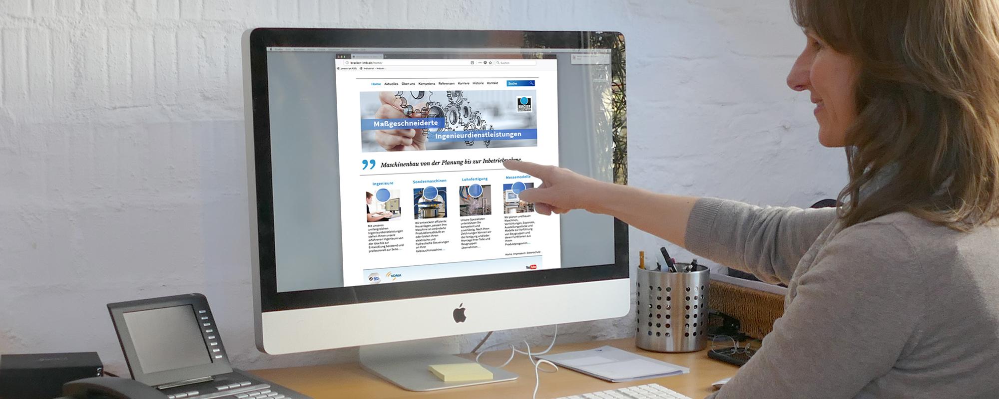 Website für ein Maschinenbauunternehmen, KMU