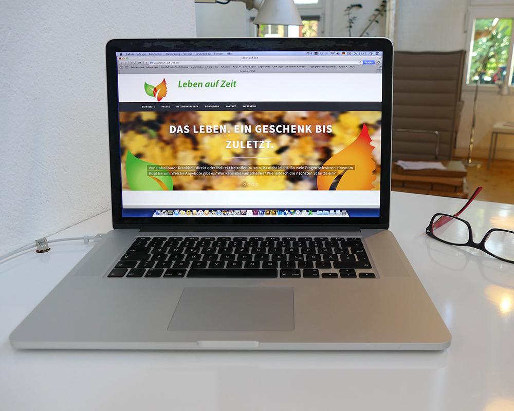 Design einer Website im Wordpress