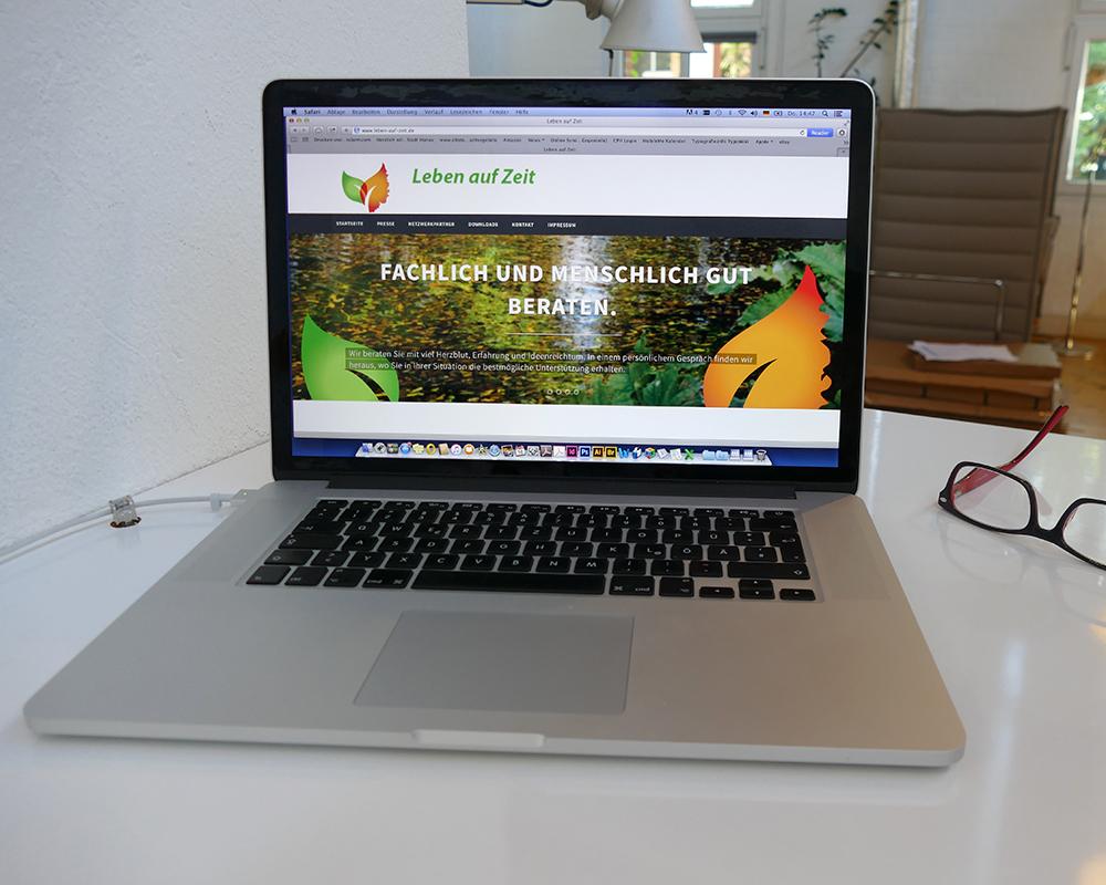 Gestaltung einer Website für Hospizberatung