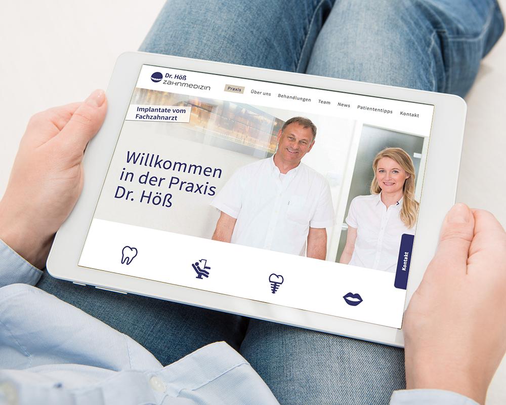 Smart Pad Version website Zahnarztpraxis