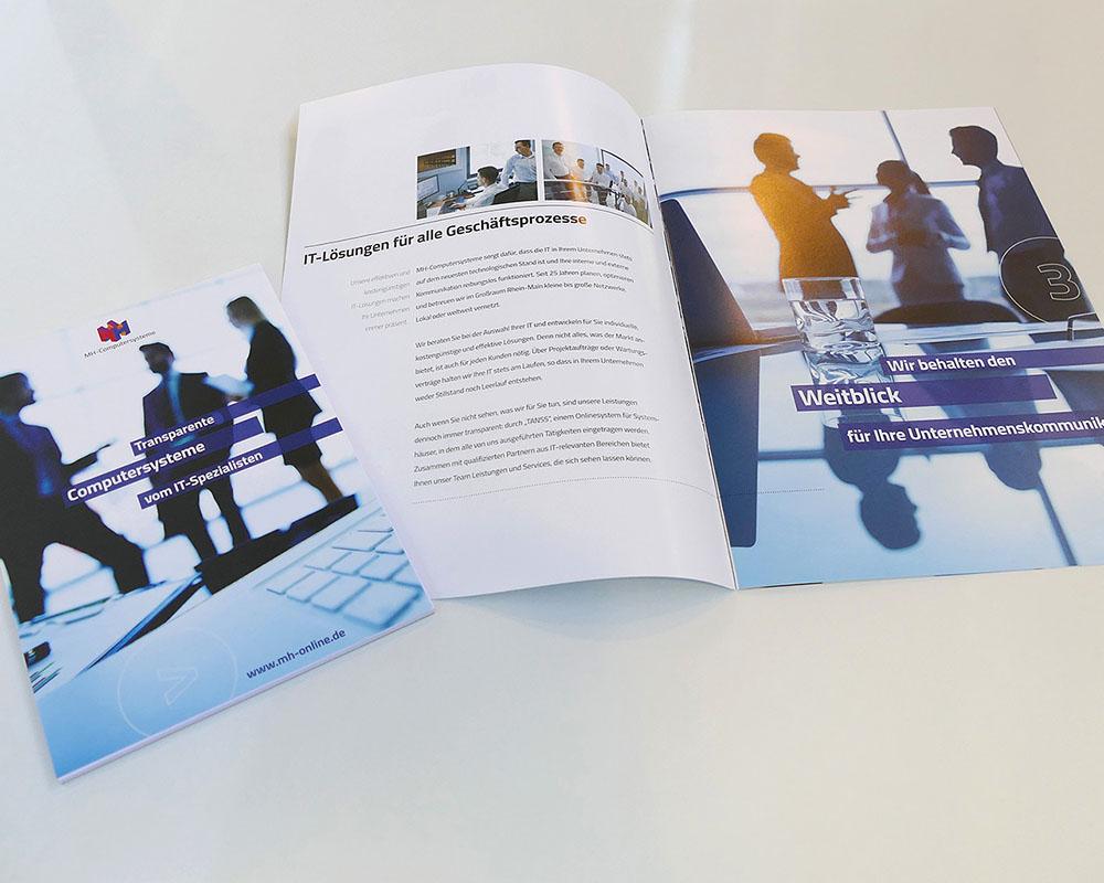 Imagebroschüre DIN A4 für IT Unternehmen