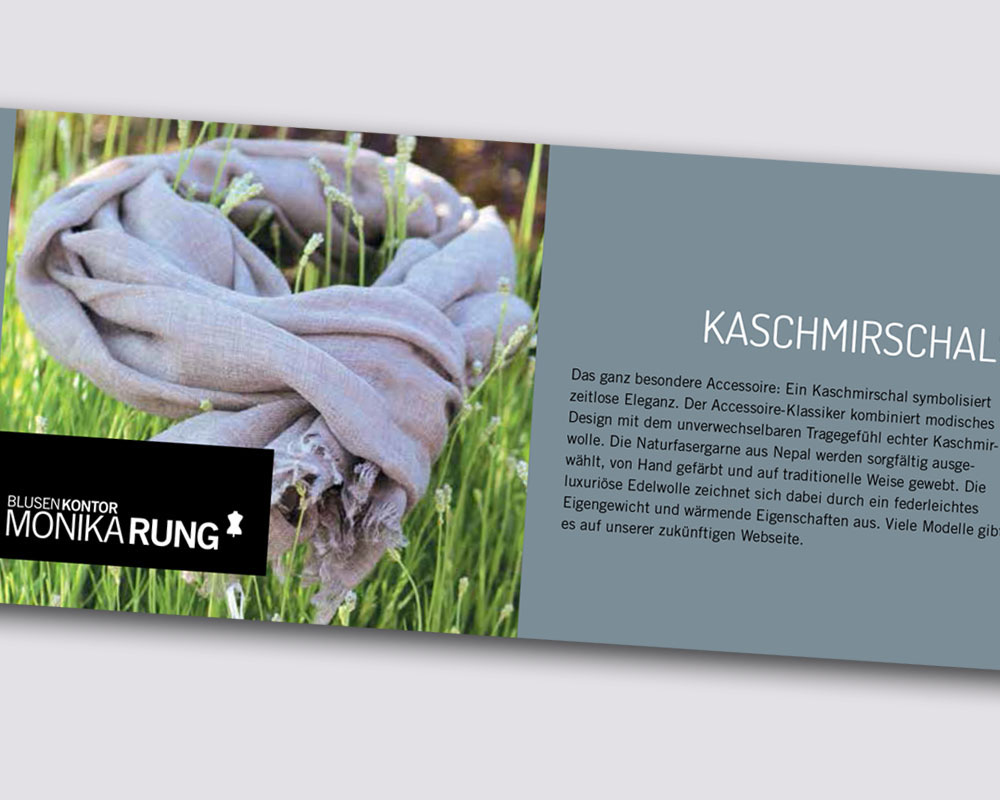 Imagebroschüre für Blusenmanufaktur