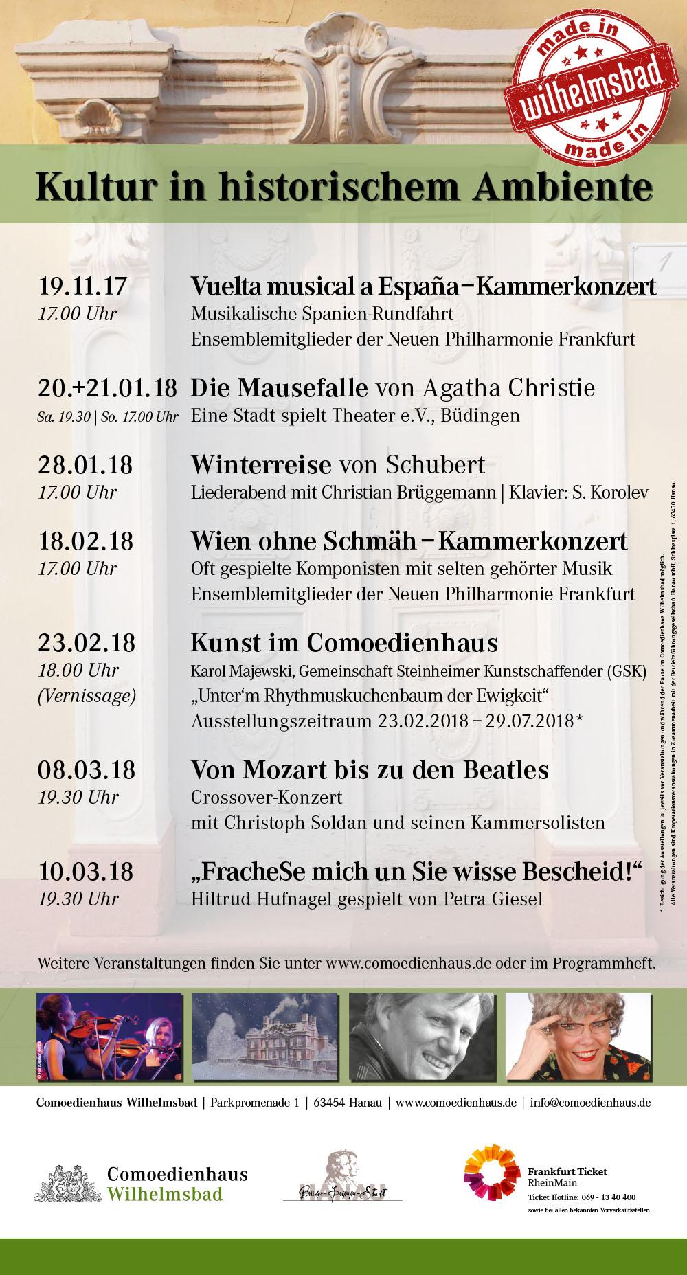 Made in Wilhelmsbad - die Eigenmarke für ausgewählte Veranstaltungen im Comoedienhaus Wilhelmsbad