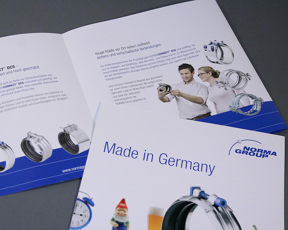 Produkt Broschüre für eine Industrieschelle
