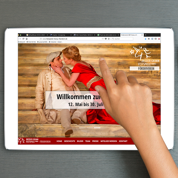 Tabletversion Webdesign