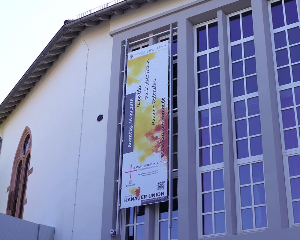 Banner für Veranstaltung der evangelischen Kirche
